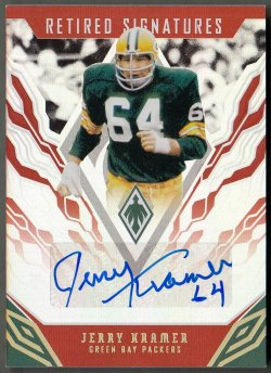 2018 Panini Phoenix Retired Signatures Jerry Kramer
