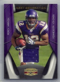 2009 Donruss Gridiron Gear Next Generation Jersey Percy Harvin