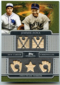 2010 Topps Sterling Jimmie Foxx Career Chronicles