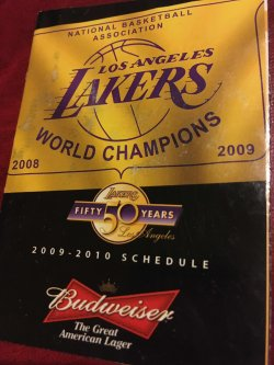 2009  Los Angeles Lakers 2009-10 Schedule                   NBA World Champions