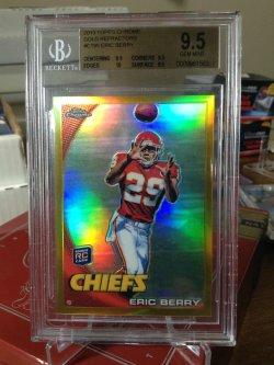 2010 Topps Chrome  Eric Berry gold ref/50