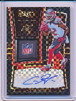 Chris Godwin 2017 Select Rookie Signature Memorabilia Prizm Black 1/1
