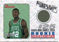 2004-05 Topps Bowman Allen, Tony - Rookie Registration Relics