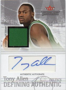 2004-05 Fleer Throwbacks Allen, Tony - Defining Authentic Jerseys Autographs Silver