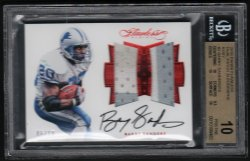 2016   Barry Sanders Flawless RUBY Parallel Dual 2-Color Patch Auto #6/10 BGS RCR 10/10 PRISTINE