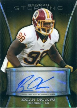 2013 Playoff Sterling Gold Refractor Auto Brian Orakpo