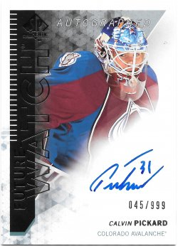 2013-14 Upper Deck SP Authentic Future Watch Autographs Calvin Pickard