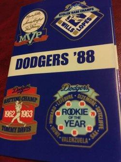 1988  Dodger Stadium MLB            Los Angeles Dodger 1988 Schedule World Series Champs
