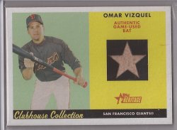 2007 Topps Heritage Clubhouse Collection Relics Omar Vizquel