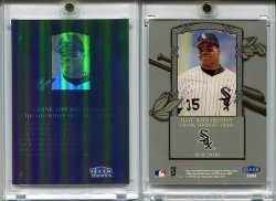 1999   Fleer Tradition Date With Destiny (Non-Die cut/serial #d) Frank Thomas