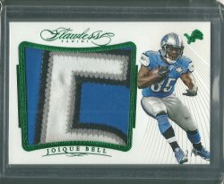 2015 Panini Flawless Joique Bell - Emerald