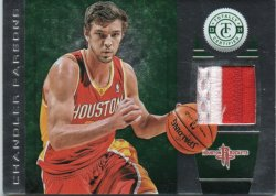 2013-14 Panini Totally Certified Parsons, Chandler - Materials Green Prime