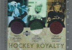 2002/03 Upper Deck Classic Portraits Hockey Royalty Limited Selanne/Lehtinen/Nieminen