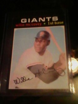 71 Topps  Willie mccovey