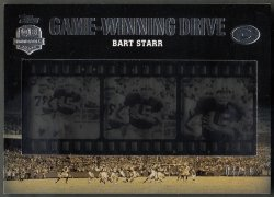 2012 Topps Game Winning Drives Film Strips Bart Starr