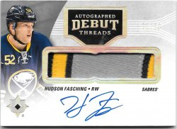 2016-17 Upper Deck Ultimate Collection Autographed Debut Threads Hudson Fasching