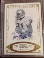 2012 Panini national treasures  tim brown