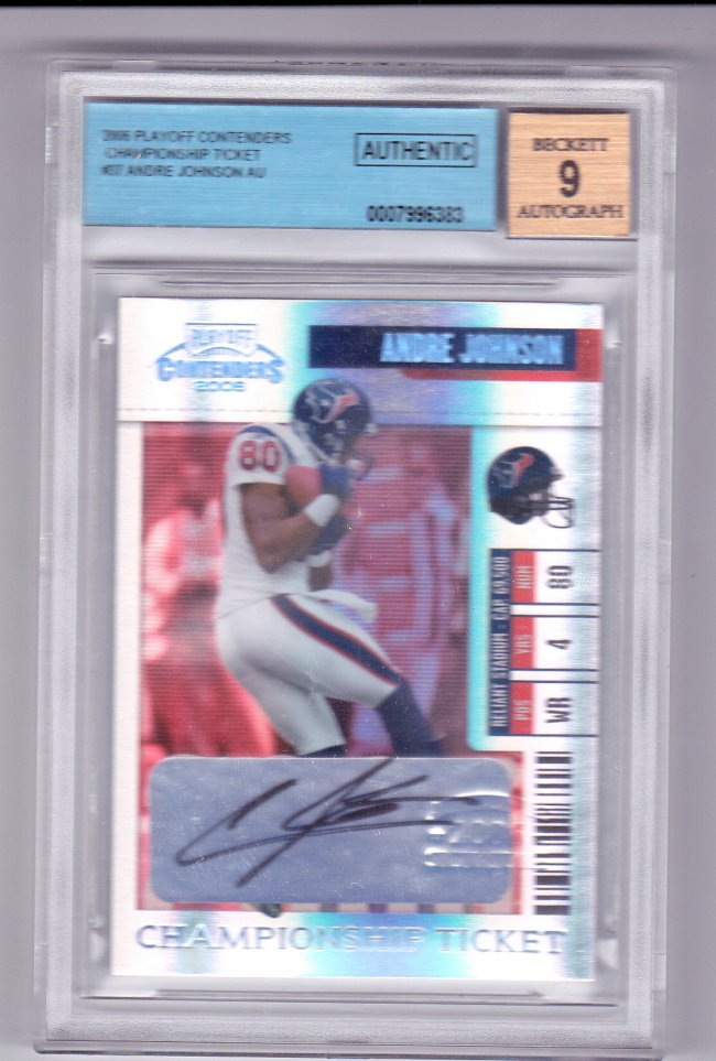 andre johnson texans pc fs complete rainbows logo shield champ ticket plus more. Black Bedroom Furniture Sets. Home Design Ideas