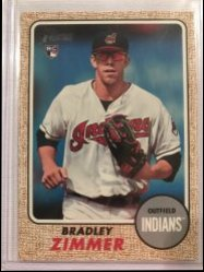 2017 Topps Heritage High Error SP Indians in White Bradley Zimmer