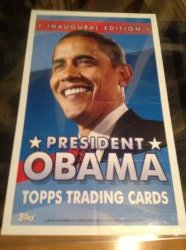 2009 Topps Obama Inaugural Set Bonus Poster From Wax Boxes (10x17)