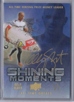 2012 Upper Deck All Time Greats Kelly Slater Autograph