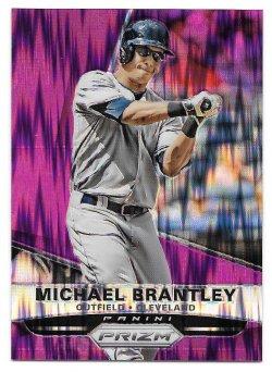 2015 Panini Panini Prizm Prizms Purple Flash Michael Brantley