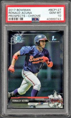 2017   Ronald Acuna Jr. Bowman Chrome Prospects RC PSA 10