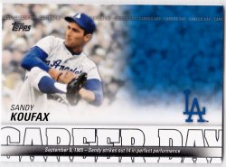 2012 Topps Career Day Sandy Koufax