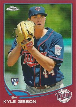 2013 Topps Chrome Red Refractor Kyle Gibson