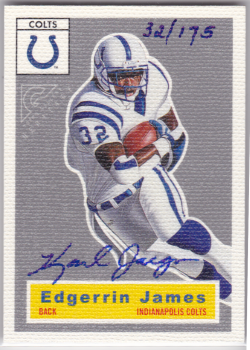 2000 Topps Gallery Heritage Proofs Artist Signed Edgerrin James