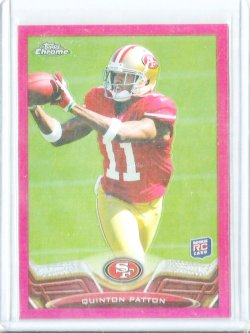 2013 Topps Chrome Pink Refractor # 181 Quinton Patton