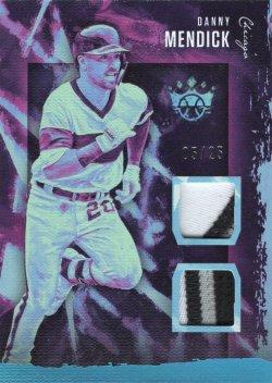 Danny Mendick Panini Diamond Kings Materials Prime Holo Blue 05 of 25