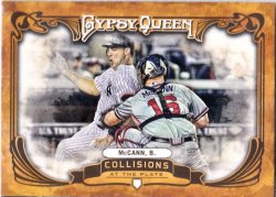2013 Topps Gypsy Queen Collisions at the Plate Brian McCann