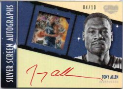2015-16 Panini Gala Allen, Tony - Silver Screen Autographs Red Ink