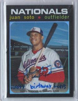 2021 Topps Tribute Juan Soto Inscription Autograph