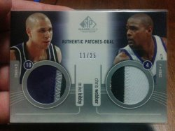 2004-05 Upper Deck SP Game Used Chris Webber/Mike Bibby Authentic Dual Patches #11/25