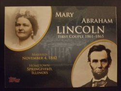 2008 Topps First Couple  Lincoln