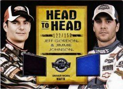 2010 Press Pass Wheels Head to Head Jimmie Johnson/Jeff Gordon