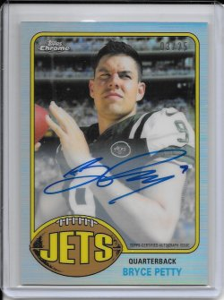 2015 Topps Chrome 1976 Refractor Autograph - Bryce Petty