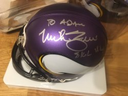 Mike Zimmer Signed Personalized Mini Helmet