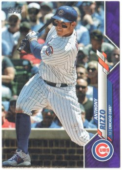 2020 Topps Purple Anthony Rizzo