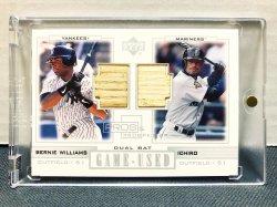 2001 Upper Deck Pros & Prospects Ichiro Suzuki & Bernie Williams w/ Bat