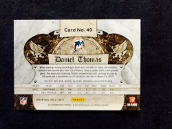 2012 Panini Crown Royale Retail Daniel Thomas #49 Back