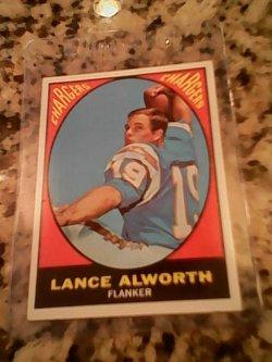 67 Topps  Lance alworth