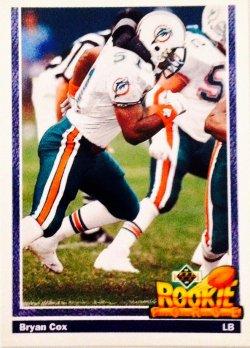 1991 Upper Deck Rookie Force Bryan Cox