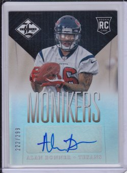Alan Bonner 2013 Limited Monikers Autographs Silver /299