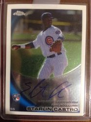 2010 Topps topps chrome  starlin castro tc rc auto