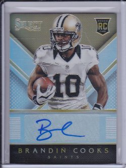 Brandin Cooks 2014 Select Rookie Autographs Prizm /75