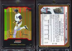 2004   Bowman Chrome Gold Refractors Frank Thomas