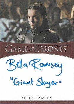 2020  Rittenhouse Game of Thrones Season 8 Inscription Autographs Bella Ramsey as Lady Lyanna Mormont -